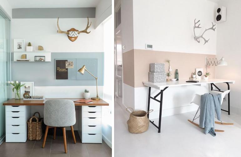 inspiration des coins bureaux originaux pour une chambre. Black Bedroom Furniture Sets. Home Design Ideas