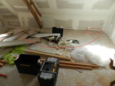 poser mousse polyur thane sur sol pour rattraper niveau plancher berles monchel r novation. Black Bedroom Furniture Sets. Home Design Ideas