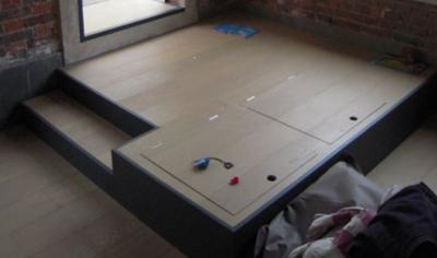 construire une estrade de lit avec trappes de rangement paris 14e menuiserie proposez vos. Black Bedroom Furniture Sets. Home Design Ideas