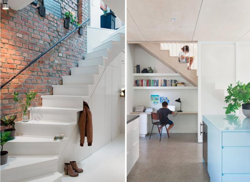 5 idées pour optimiser l'espace sous un escalier