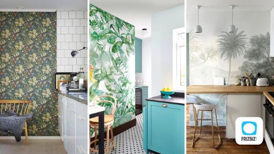 Comment adopter la tendance papier peint en cuisine ?